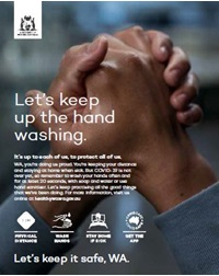 Let's keep up the hand washing