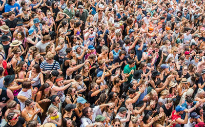 Crowd of people at a music festival