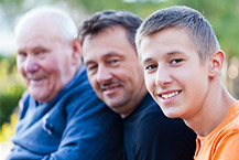 A boy, his dad and grandfather