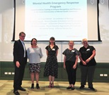 Clinical simulation grant recipients - EMH & RPBG, CMO Michael Levitt, Jeanne Young, Lucia Gilman, Kylie Fawcett and Alex Knowles