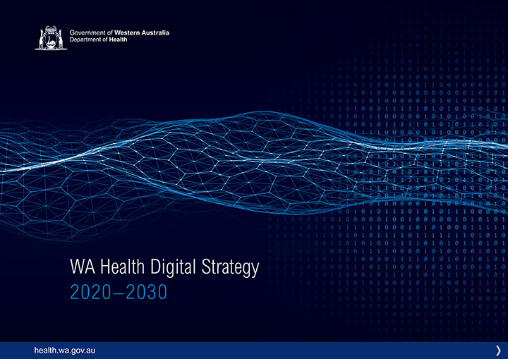 WA Health Digital Strategy 2020-2030 report cover