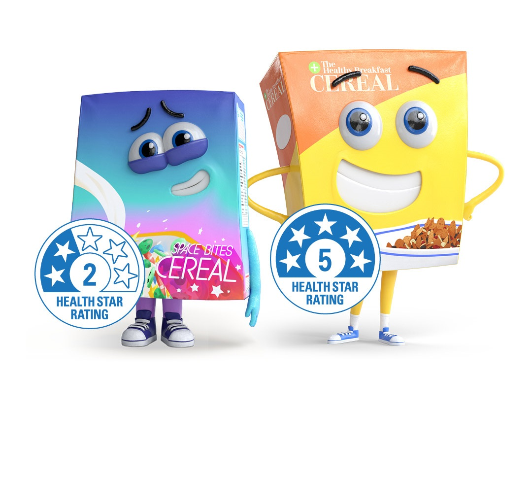 Differing Health Star Ratings between two cereal packages