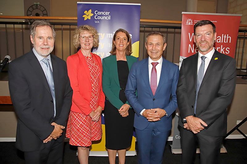 Cancer and Palliative Care Network team and the Minister for Health at the launch of the WA Cancer Plan 2020-2025