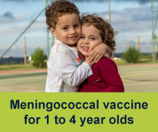Meningococcal vaccine for 1 to 4 year olds