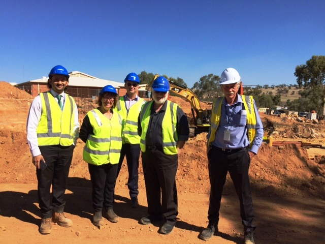 WACHS staff members visit the Northam Health Service construction site