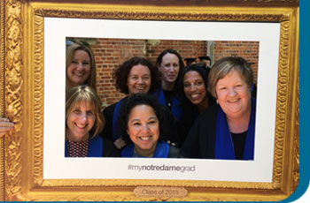 Group of nurses in a photoframe