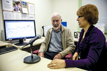 Elderly patient with Speech Therapist