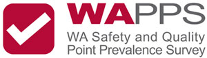 Logo with tick for WA Safety and Quality Point Prevalence Survey