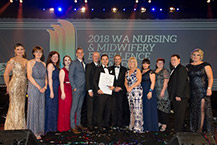 WA Nursing and Midwifery Excellence Awards winners at the 2018 gala ball