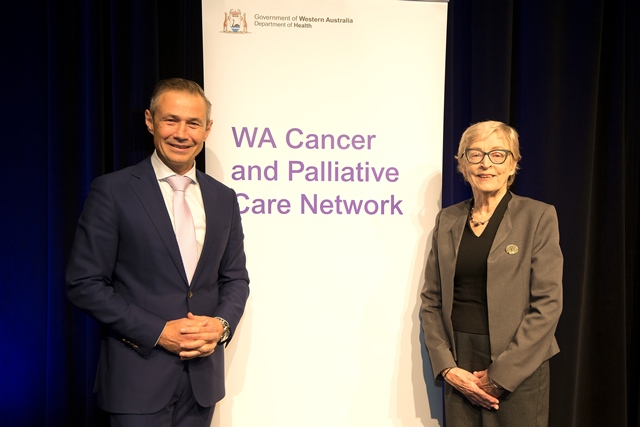 Hon. Roger Cook Minister for Health, Professor Kathy Eagar