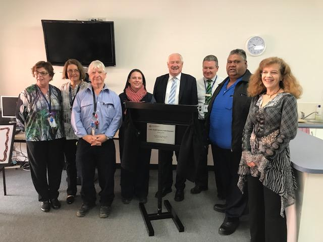 Key staff and Collie Preston MLA Mick Murray celebrate opening of Collie Health Service refurbishment
