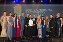 Group of award winners for the Nursing and Midwifery awards