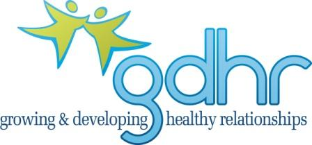 GDHR Logo: Growing Developing Healthy Relationship