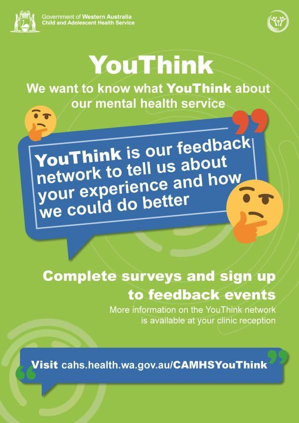 Poster for CAMHS YouThink feedback network