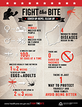 Poster: fight the bite infographic