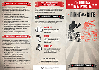 Brochure: fight the bite on holiday in australia
