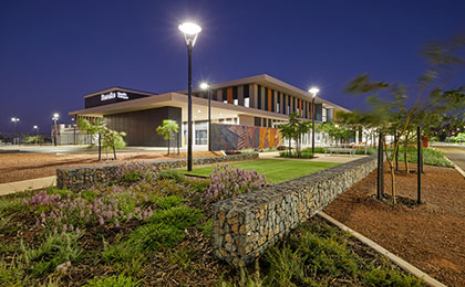 Image of Karratha Health Campus at night