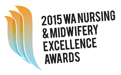 Logo for the WA Nursing and Midwifery Excellence awards.