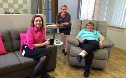 People enjoying the facilities at the Goldfields cancer patients accomodation