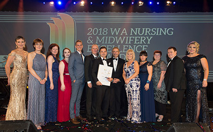 WA Nursing and Midwifery Excellence Award 2018 winners