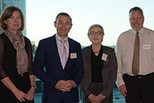 Karen Bradley, Executive Director Clinical Leadership and Reform, Hon. Roger Cook Minister for Health, Professor Kathy Eagar and Andrew Jones, Manager WA Cancer and Palliative Care Network