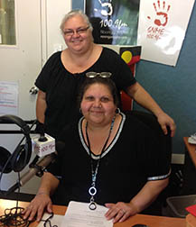 Janinne Gliddon with Noongar Radio announcer, Big Girl