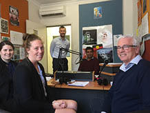 Russ, Rachel, Lauren and Scott join announcer, Jeff Michael in the Noongar Radio studio