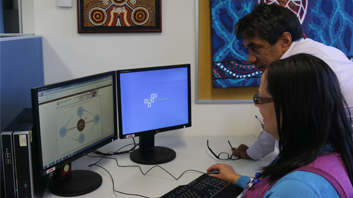 Two WA Health staff members completing the Aboriginal Cultural eLearning course