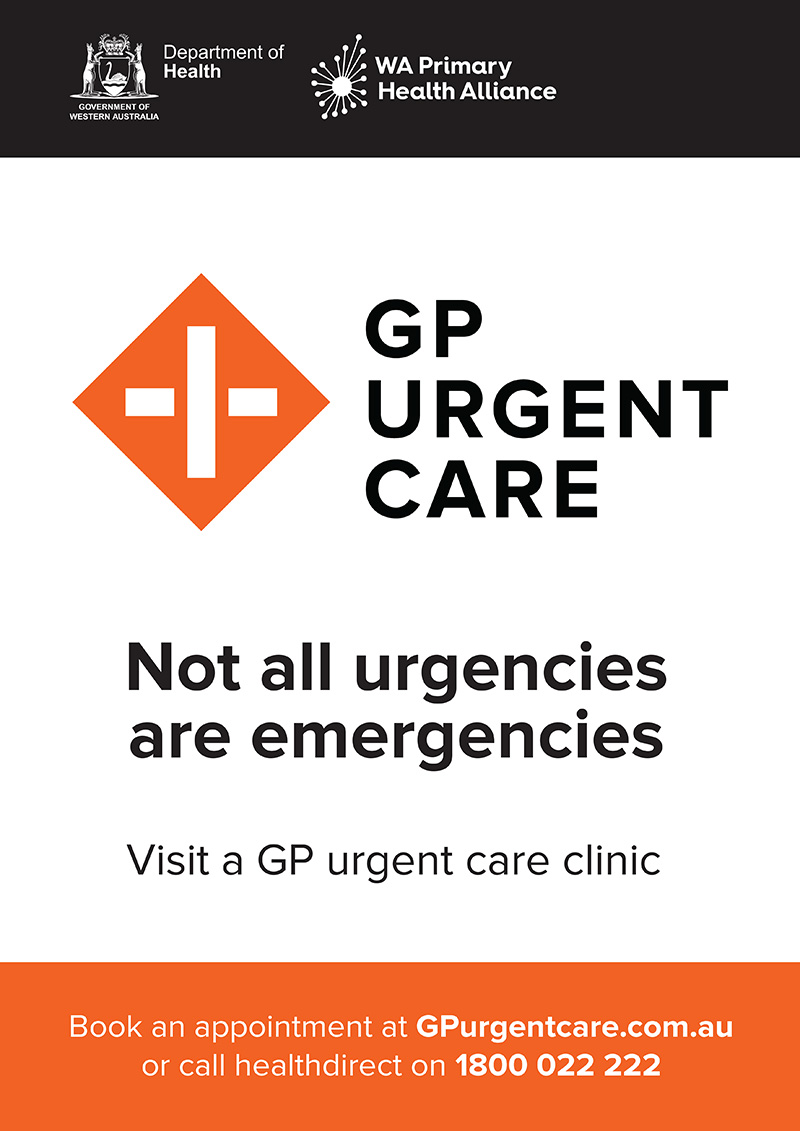 Poster: GP Urgent Care – White background