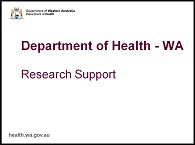 Research support presentation - click to open