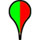 paddle, with left half green and right half red, indicates bacterial water quality results to date are good, but animal and stormwater contamination sources are likely to elevate bacterial levels to high levels following rainfall.