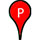 Red paddle with letter 'P' in middle indicates provisional classification of 'poor'.