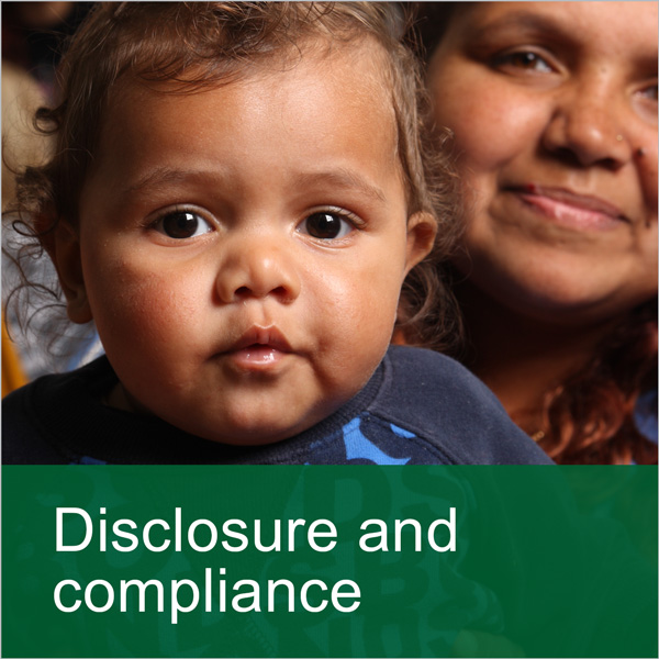 Banner: Disclosure and compliance