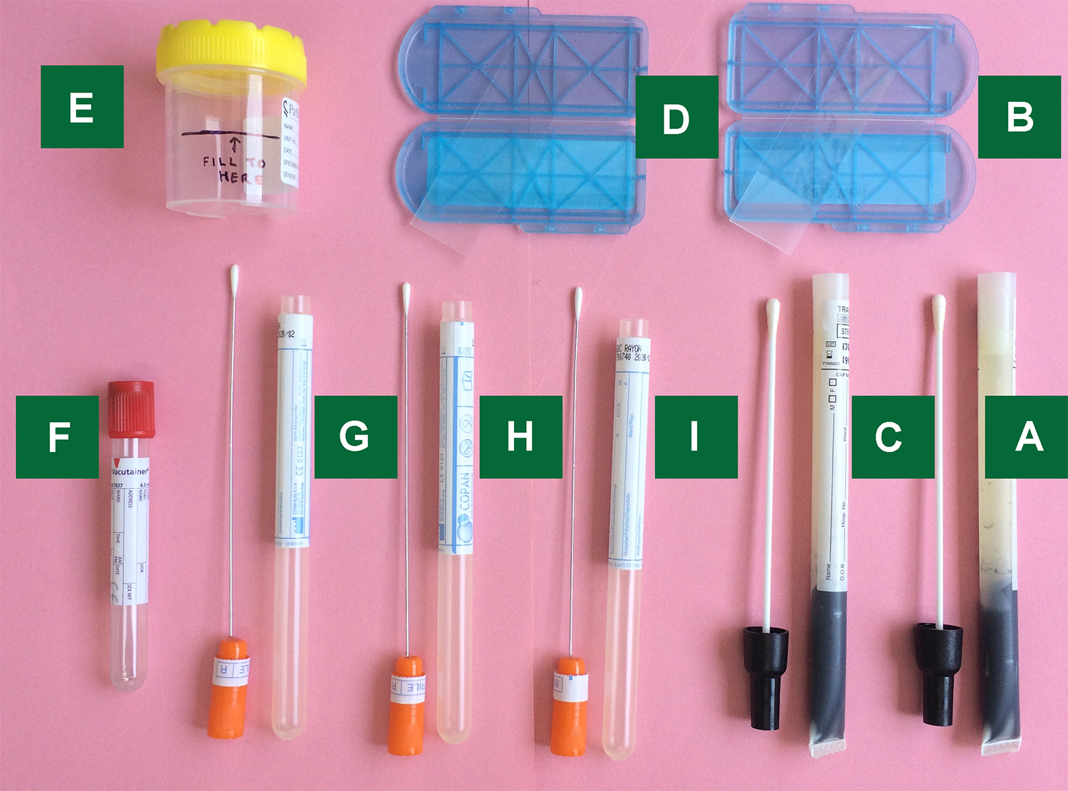 Sample female test kit